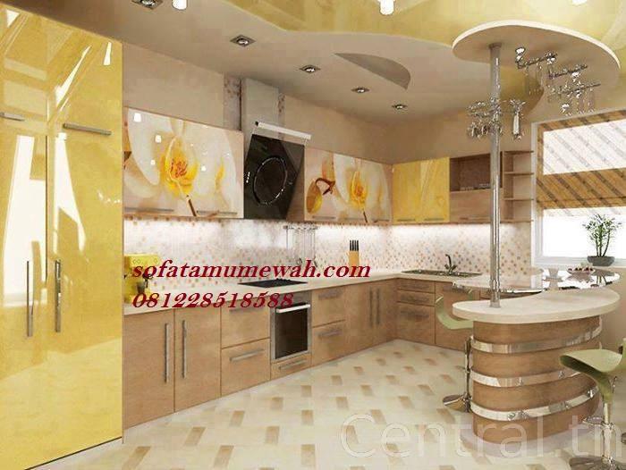 Kitchen Set Mewah Model Minibar Dapur Mungil Sofa Tamu Mewah