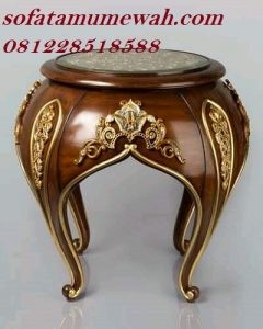 Meja Sudut Klasik Sofa Tamu Mewah