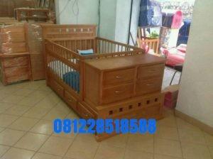 Tempat Tidur Bayi Minimalis Jati
