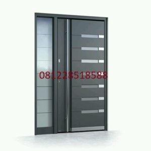 Model Kusen Pintu Utama Jati Minimalis