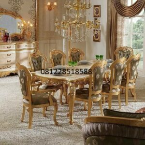 Furniture Set Meja Makan Ukiran Mewah
