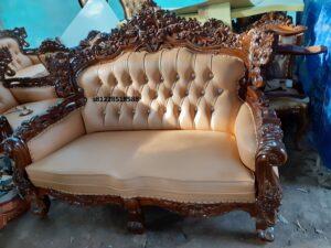 Sofa Tamu Mewah Set Ukiran Klasik Mewah Terbaru